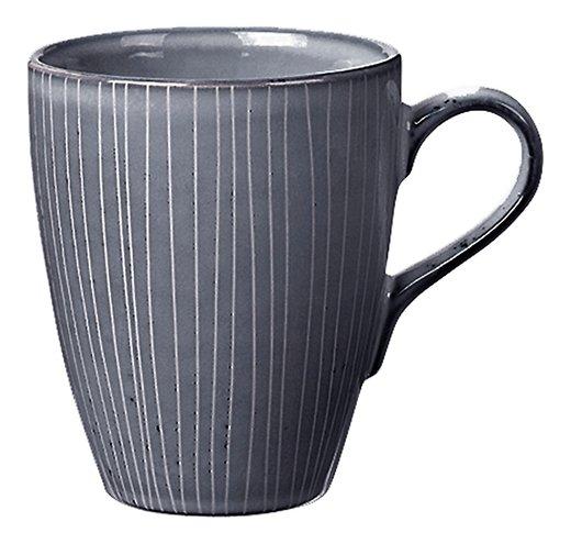Broste Henkelbecher groß Nordic Sea 400 ml Keramik grau