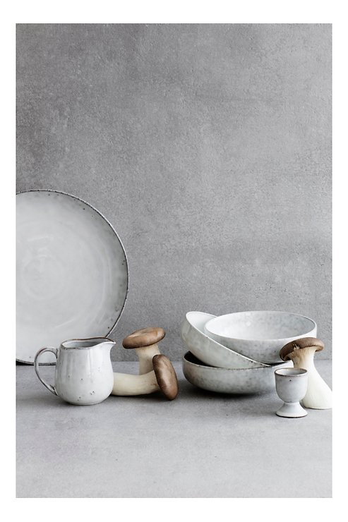 Broste Henkelbecher groß Nordic Sand 400 ml Keramik sand - Pic 2