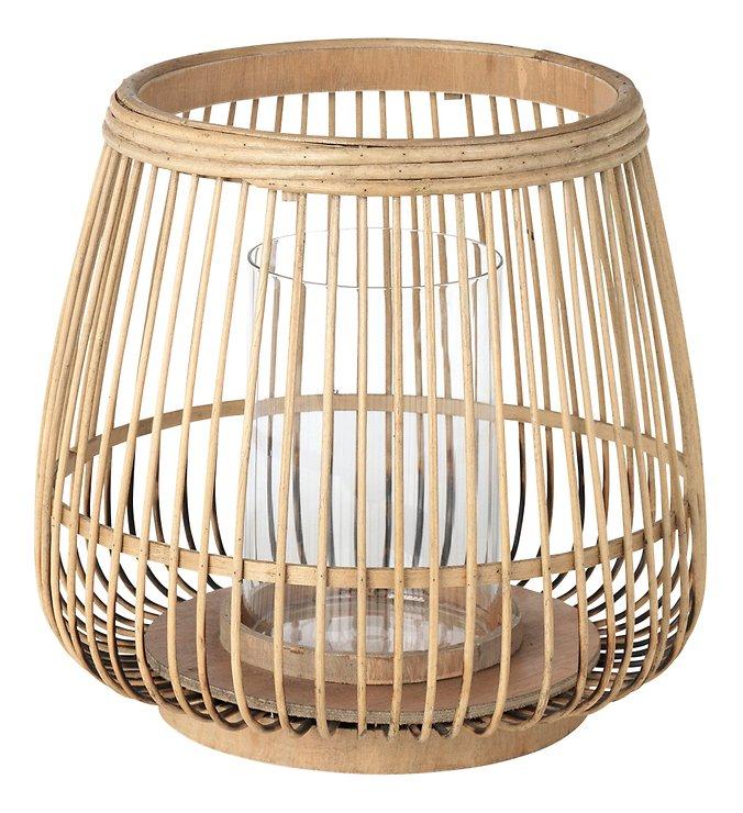 Broste Windlicht Cait M Bambus natur 31 x 29 cm - Pic 1