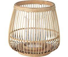 Broste Windlicht Cait M Bambus natur 31 x 29 cm