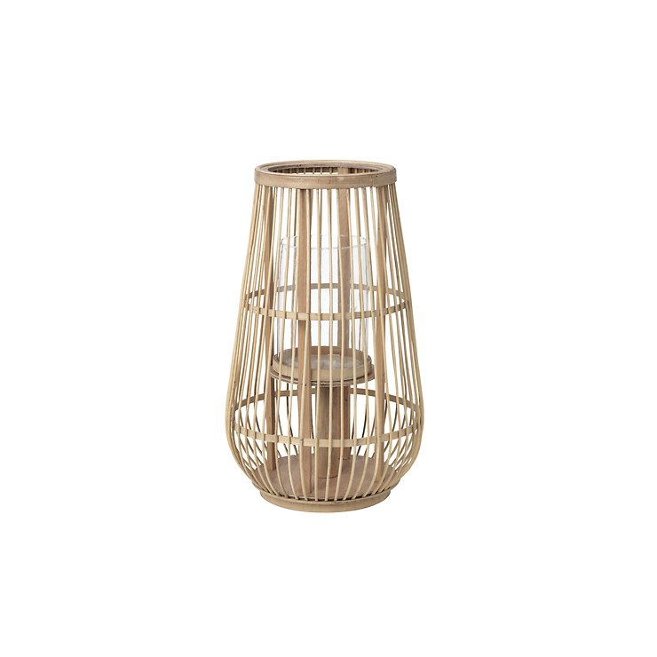 Broste Windlicht Cait S Bambus natur 21 x 22 cm - Pic 1