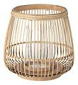 Broste Windlicht Cait S Bambus natur 21 x 22 cm - Thumbnail 1