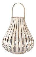 Broste Laterne Sally 40 cm Bambus weiß