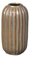 Broste Vase Lines Keramik grün 20 cm