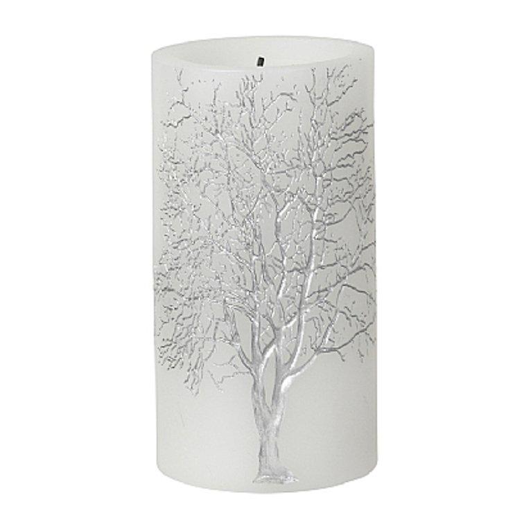 Broste LED Kerze Branch weiß silber Baum 7,5 x 15cm - Pic 1