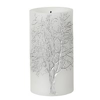 Broste LED Kerze Branch weiß silber Baum 7,5 x 15cm