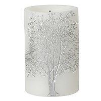 Broste LED Kerze Branch Baum 10 x 15cm weiß silber