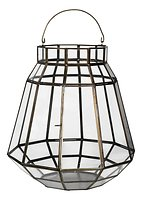 Broste Laterne Varla für 7 cm Kerze Eisen und Glas messing 36 cm