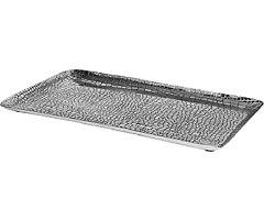 Broste Kerzenschale Crocodile Aluminium silber rechteckig 36cm