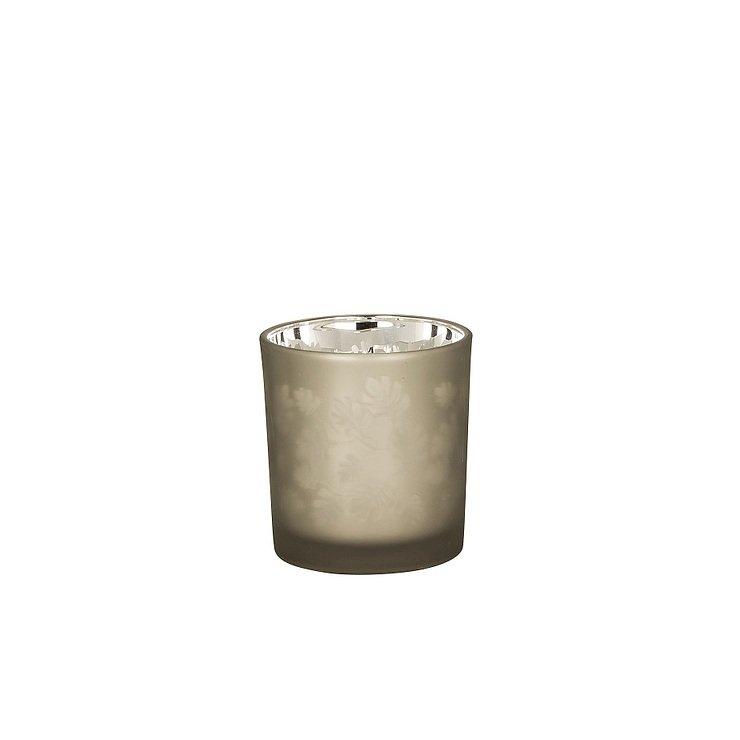 Broste Teelichthalter Hurricane Leaf Glas 8cm - Pic 1