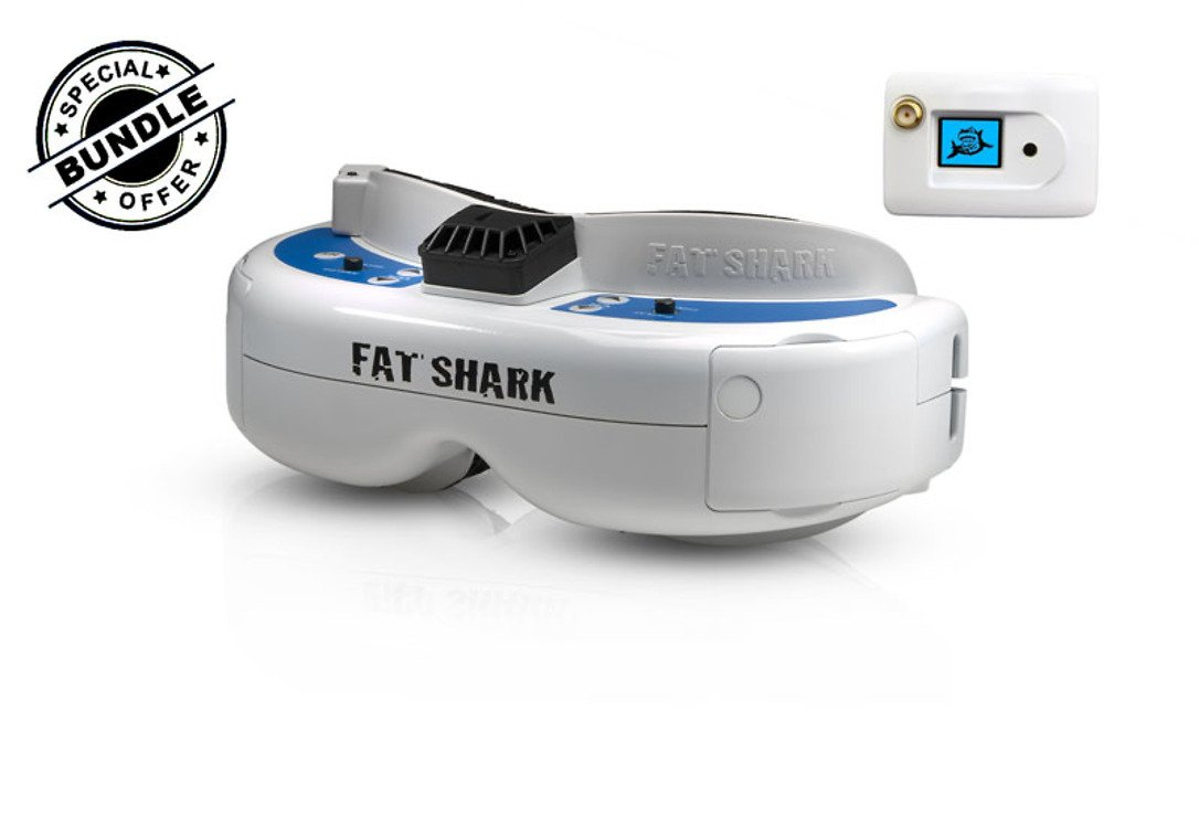 Fatshark Dominator V3 FPV Videobrille mit FatShark 5.8GHz OLED RX Modul GRATIS - Pic 1
