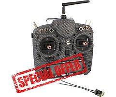 FrSky Taranis X9D Plus SPECIAL EDITION Matt Carbon Fiber mit R-XSR Empfänger