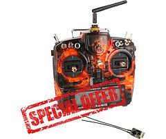 FrSky Taranis X9D Plus SPECIAL EDITION Blazing Skull mit R-XSR Empfänger