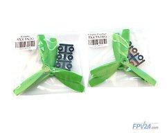 HQProp Propeller Triple Glasfaser 5x4.5x3 Grün (2xCW 2xCCW)