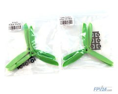 HQProp Propeller Triple Glasfaser 6x4.5x3 Grün (2xCW 2xCCW)