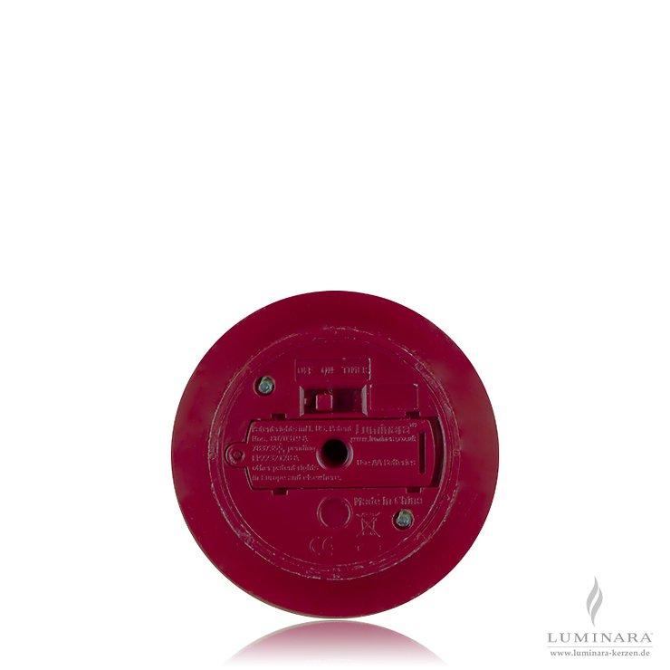 Luminara LED Kerzen 3er Set bordeaux D 8cm glatt mit Fernbedienung - Pic 2