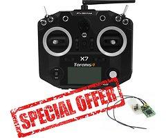 FrSky Taranis Q X7 schwarz mit XM plus Mini Empfänger