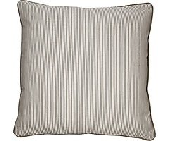 Cozy Living Dekokissen Baumwolle gestreift khaki 60 x 60cm