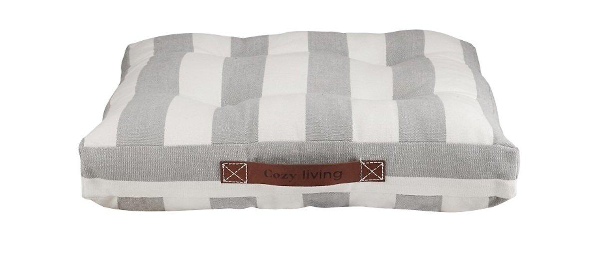cozy living stuhlkissen cottage grau gestreift 45 x 45cm. Black Bedroom Furniture Sets. Home Design Ideas