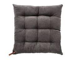 Cozy Living Stuhlkissen Velvet grau braun 40x40cm