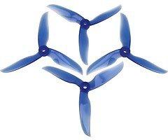 DAL Propeller T5040C Cyclone Dreiblatt 4 Stück Krystall Blau