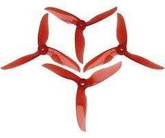 DAL Propeller T5040C Cyclone Dreiblatt 4 Stück Krystall Rot