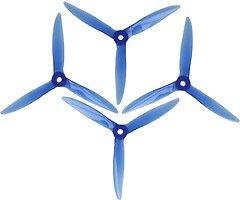 DAL T5051 Cyclone 3-Blatt Propeller Crystal Blau 2xCW 2xCCW