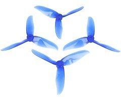 DAL T5050 Cyclone 3-Blatt Propeller Crystal Blau 2xCW 2xCCW
