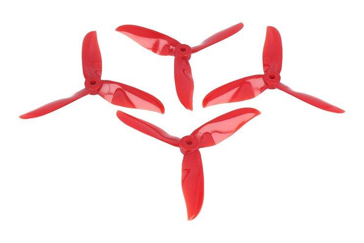 DAL T5050 Cyclone 3-Blatt Propeller Crystal Rot 2xCW 2xCCW