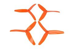 DAL T5040 V2 - 3-Blatt Propeller Orange 2xCW 2xCCW