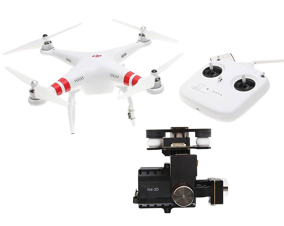 dji phantom 2 quadcopter v2 0 bundle 3 axis zenmuse h4 3d. Black Bedroom Furniture Sets. Home Design Ideas