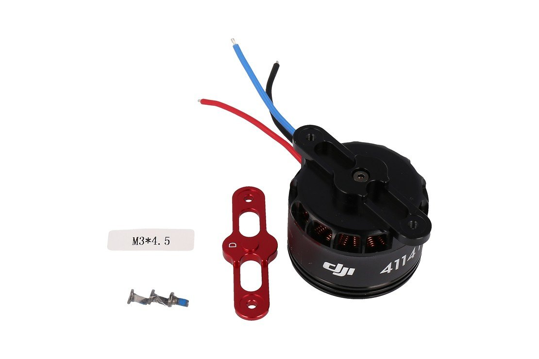 DJI S1000 Part 55 Premium 4114 Motor with red Prop cover - Pic 2