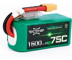 Acehe Batterie LiPo Akku 1500mAh 4S 75C
