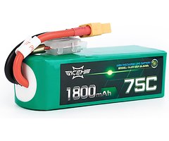 Acehe Batterie LiPo Akku 1800mAh 4S 75C