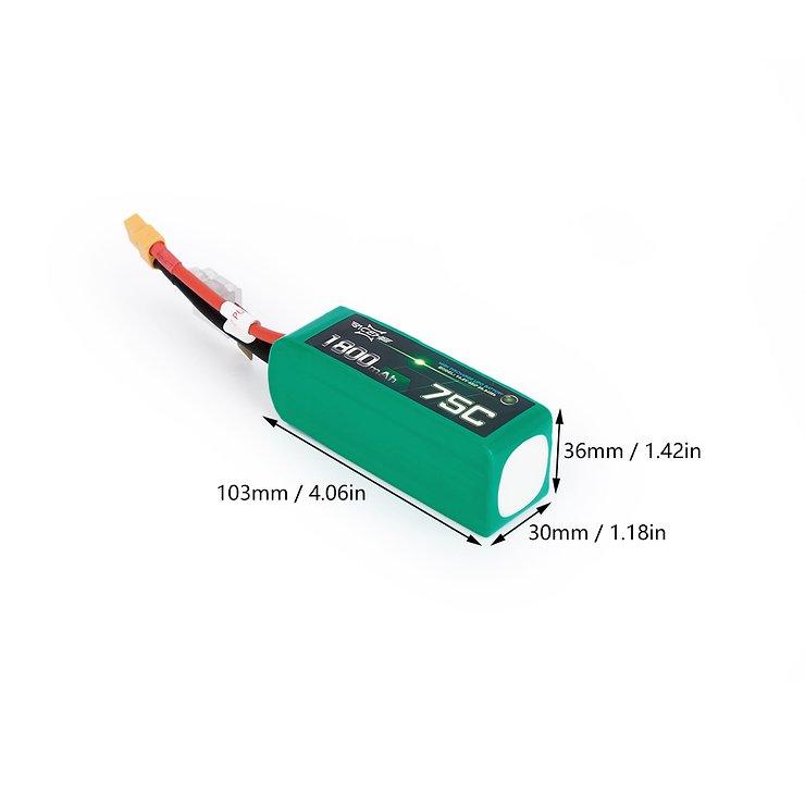 Acehe Batterie LiPo Akku 1800mAh 4S 75C - Pic 3
