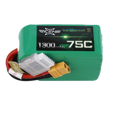 Acehe Batterie LiPo Akku 1300mAh 6S 75C