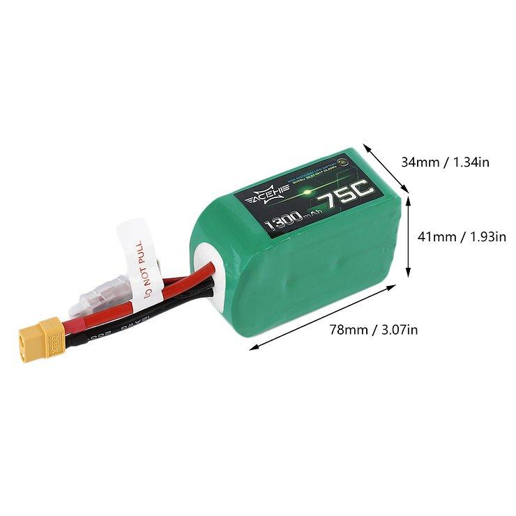 Acehe Batterie LiPo Akku 1300mAh 6S 75C - Pic 2