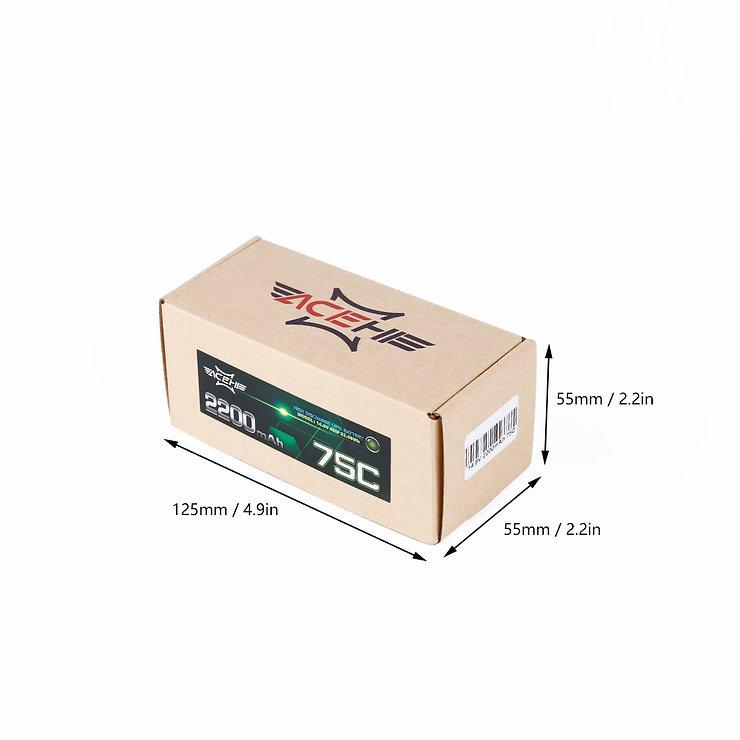 Acehe Batterie LiPo Akku 1300mAh 6S 75C - Pic 3