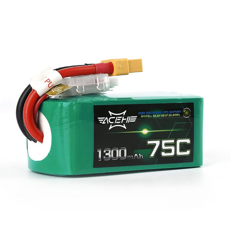 Acehe Batterie LiPo Akku 1300mAh 6S 75C - Pic 5