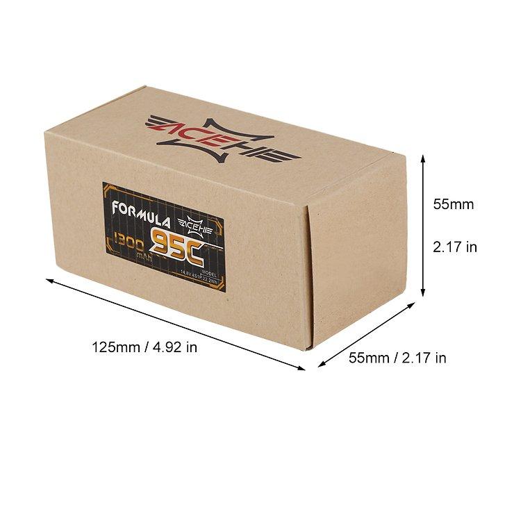 Acehe Formula Batterie LiPo Akku 1300mAh 4S 95C - Pic 3