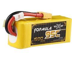 Acehe Batterie LiPo Akku Formula Lipo Akku 1500mAh 4S 95C
