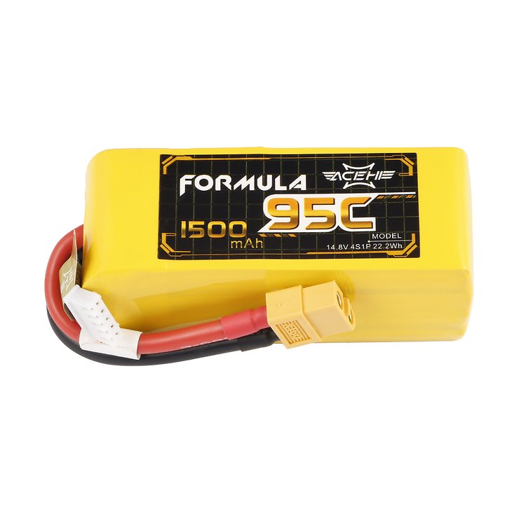 Acehe Batterie LiPo Akku Formula Lipo Akku 1500mAh 4S 95C - Pic 2