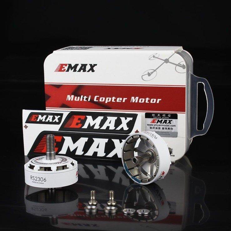 Emax Motor Glocken Set mit Magneten und Schrauben für RS2306 Motoren in weiß - Pic 2