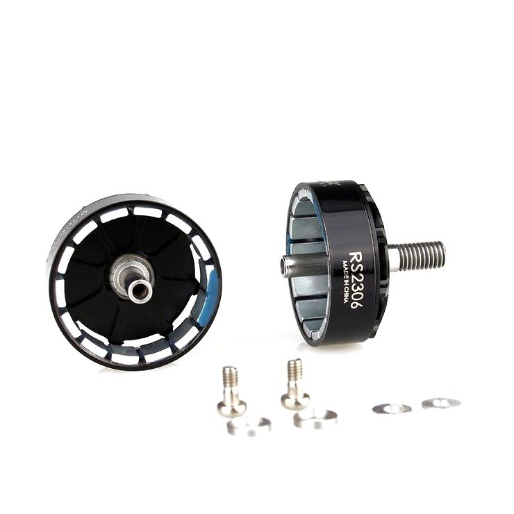 Emax Motor Glocken Set mit Magneten und Schrauben für RS2306 Motoren in schwarz - Pic 1
