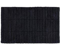 Zone Denmark Badematte Tiles 80 x 50 cm Baumwolle schwarz