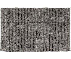 Zone Denmark Badematte Tiles 80 x 50 cm Baumwolle steingrau