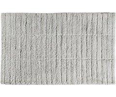 Zone Denmark Badematte Tiles 80 x 50 cm Baumwolle hellgrau
