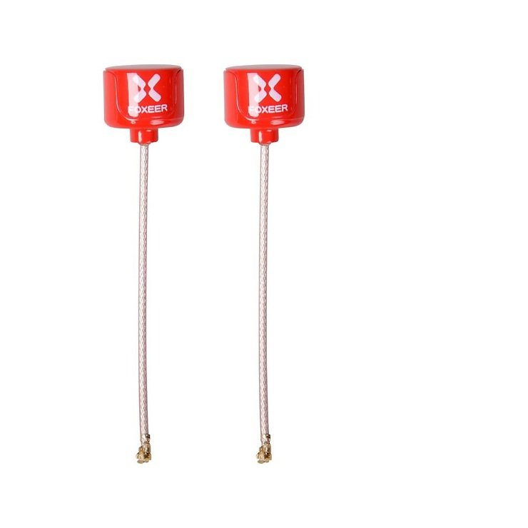 FOXEER Lollipop 2 UFL Antennen Set RHCP SMA Rot AXII - Pic 1