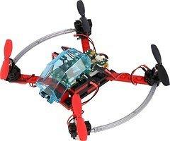 FLY-GO ARF Drohne rot schwarz mit Fernsteuerung KOMPLETTKIT