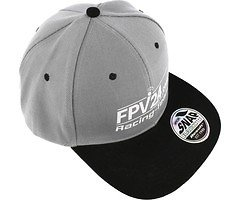 FPV24.com Racing Team Basecap grau schwarz